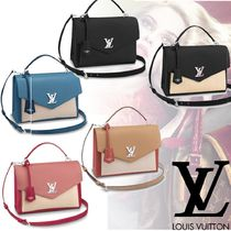 Louis Vuitton MY LOCKME  Casual Style 3WAY Plain Leather Shoulder Bags