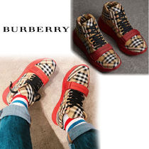 Burberry Other Check Patterns Blended Fabrics Sneakers
