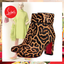 Christian Louboutin Plain Toe Casual Style Other Animal Patterns Leather
