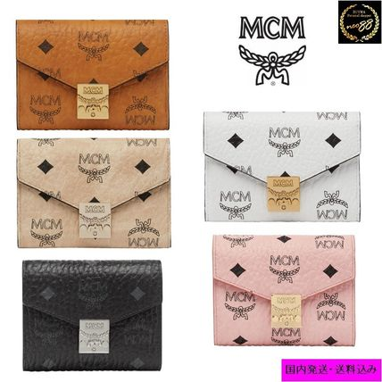 Monogram Blended Fabrics Folding Wallets