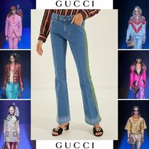GUCCI Casual Style Street Style Plain Cotton Long