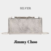 Jimmy Choo Calfskin 2WAY Chain Party Style Clutches