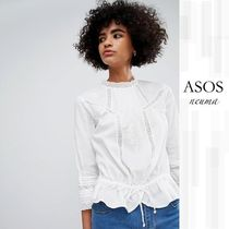 ASOS Casual Style Street Style Long Sleeves Lace Shirts & Blouses