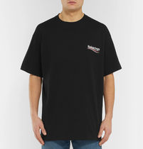 BALENCIAGA Crew Neck Cotton Short Sleeves T-Shirts