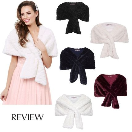 Plain Medium Bold Shearling Shawls