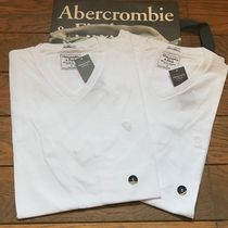 Abercrombie & Fitch V-Neck Plain Short Sleeves V-Neck T-Shirts