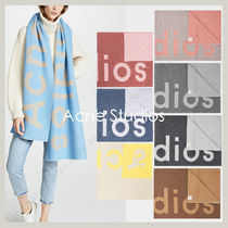 Acne Unisex Wool Bi-color Scarves