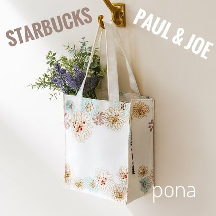 Flower Patterns Nylon Collaboration Shoppers