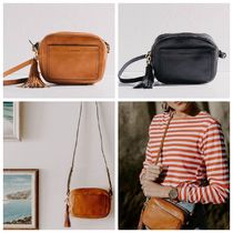 The Horse Casual Style Tassel Leather Shoulder Bags