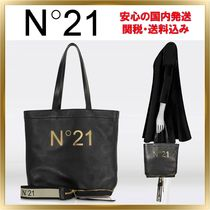 N21 numero ventuno Casual Style Unisex Plain Leather Totes