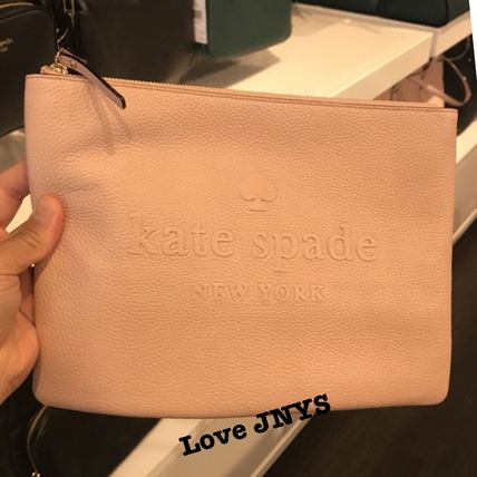 18ffa2da7a47 ... kate spade new york Pouches   Cosmetic Bags Plain Leather Pouches    Cosmetic ...