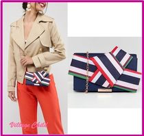 TED BAKER Stripes 2WAY Chain Plain Party Style Clutches