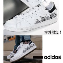adidas STAN SMITH Flower Patterns Casual Style Street Style Plain Leather