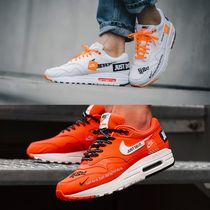 Nike AIR MAX Monogram Casual Style Blended Fabrics Street Style Leather
