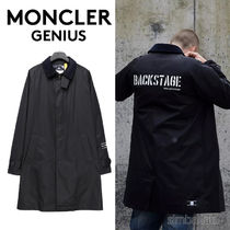 MONCLER GIUBBOTTO Stand Collar Coats Street Style Collaboration Plain Long