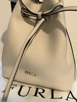 FURLA Casual Style 2WAY Plain Leather Purses Office Style
