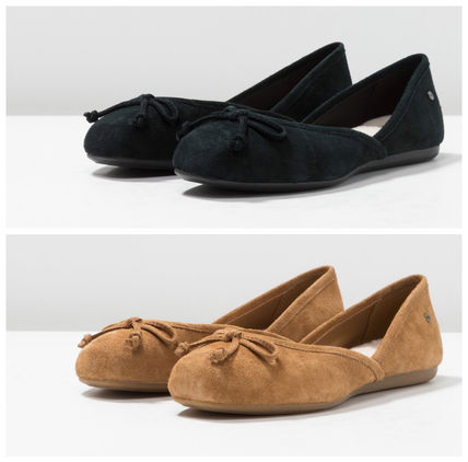 ... UGG Australia More Flats Rubber Sole Suede Plain Slippers Flats ...