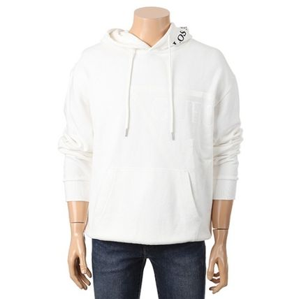 Guess Hoodies Pullovers Unisex Long Sleeves Plain Cotton Hoodies 2