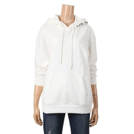 Guess Hoodies Pullovers Unisex Long Sleeves Plain Cotton Hoodies 3