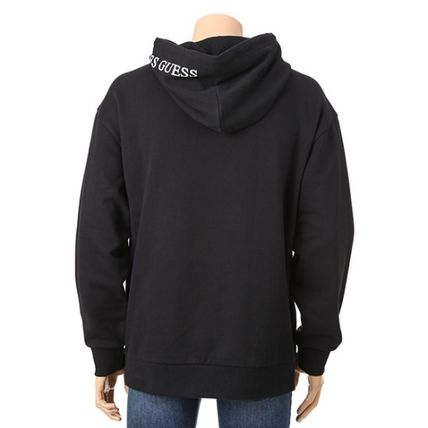 Guess Hoodies Pullovers Unisex Long Sleeves Plain Cotton Hoodies 6