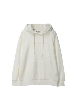 Guess Hoodies Pullovers Unisex Long Sleeves Plain Cotton Hoodies 12