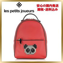 Les Petits Joueurs Casual Style Unisex Studded Plain Other Animal Patterns