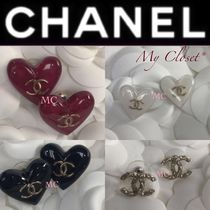 CHANEL Costume Jewelry Blended Fabrics Street Style With Jewels