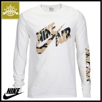 Nike Crew Neck Camouflage Street Style Long Sleeves Cotton