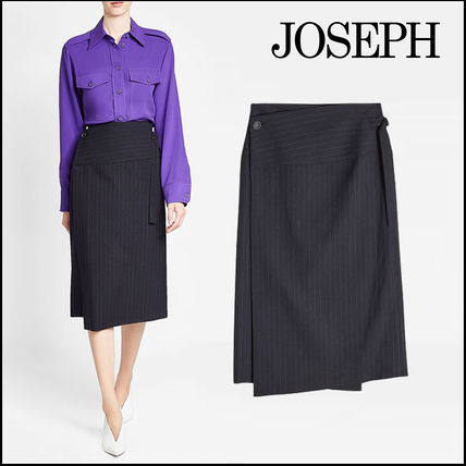 Wool Office Style Skirts