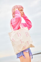 Entre Reves Casual Style Canvas Street Style A4 Plain Totes