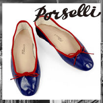 PORSELLI Leather Ballet Shoes