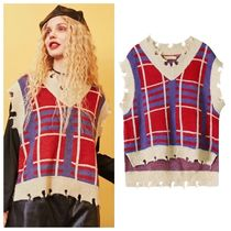 ELF SACK Casual Style Street Style Vests