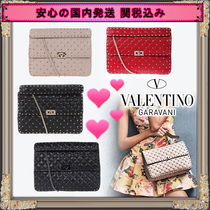 VALENTINO Studded 2WAY Leather Shoulder Bags