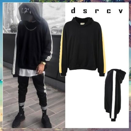 dsrcv Hoodies Street Style Long Sleeves Plain Cotton Hoodies