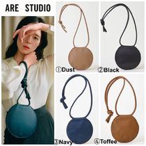 ARE STUDIO Casual Style Plain Leather Elegant Style Totes