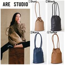 ARE STUDIO Casual Style Plain Leather Totes