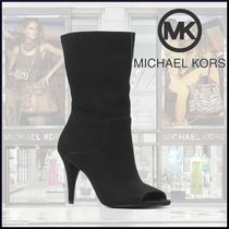 Michael Kors Open Toe Casual Style Suede Plain Pin Heels