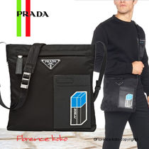 PRADA Casual Style Unisex Nylon Blended Fabrics Bi-color