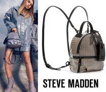 Steve Madden Casual Style Faux Fur 2WAY Plain Backpacks