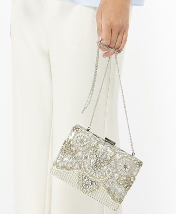 2WAY Party Style With Jewels Clutches