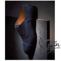 Christian Louboutin Straight Tip Suede Plain Oxfords