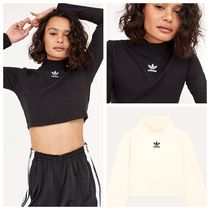 adidas Short Casual Style Street Style Long Sleeves Plain Cotton
