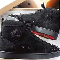 Christian Louboutin Suede Studded Street Style Plain Sneakers
