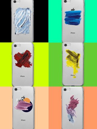 Unisex Street Style Tie-dye Bi-color Silicon iPhone 8