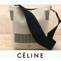 c24865e33c CELINE Sangle Casual Style Canvas 2WAY Plain Shoulder Bags