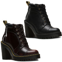 Dr Martens Lace-up Casual Style Unisex Street Style Plain Leather