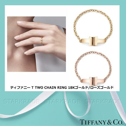 2fd218130 Tiffany & Co Tiffany T 2018-19AW 18K Gold Elegant Style Fine (TIFFANY T TWO  CHAIN RING) by Starkrade - BUYMA