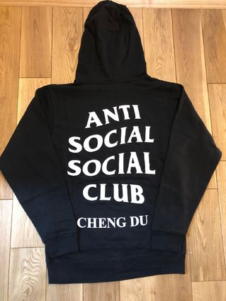ANTI SOCIAL SOCIAL CLUB Hoodies Pullovers Unisex Street Style Long Sleeves Plain Cotton 8