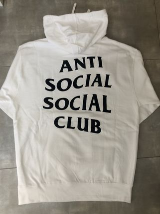ANTI SOCIAL SOCIAL CLUB Hoodies Pullovers Unisex Street Style Long Sleeves Plain Cotton 12