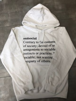 ANTI SOCIAL SOCIAL CLUB Hoodies Pullovers Unisex Street Style Long Sleeves Plain Cotton 15